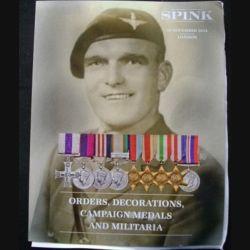 CATALOGUE SPINK : médailles militaires anglaises et du monde entier novembre 2014 (C65)