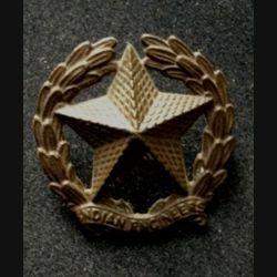 INDE : Insigne de casquette du génie indien en métal de largeur 3,8 cm