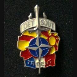 TRAIN : insigne du détachement de soutien DETSOUT de l'opération Trident KFOR type 1 sans fabricant (FIA)