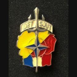 TRAIN : insigne du détachement de soutien DETSOUT de l'opération Trident KFOR type 3 sans fabricant (FIA) G. 4640 numéroté 0271