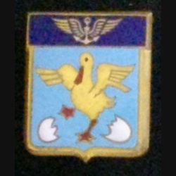 53 S : insigne métallique de l'escadrille aéronavale 53 S de fabrication Drago en émail