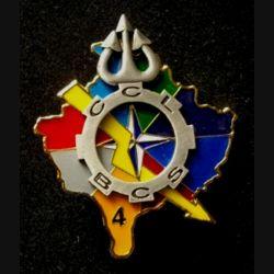 TRAIN : insigne de l'unité de commandement et de logistique UCL du bataillon de commandement et des services BCS mandat 4 de l'opération Trident de fabrication Sheli