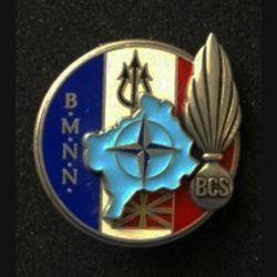 TRAIN : insigne du bataillon de commandement et de soutien (BCS) de la brigade multinationale Nord (BMNN) lors de l'opération Trident de fabrication Delsart
