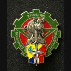TRAIN : insigne de la section transport du détachement de soutien DETSOUT n°4 de l'opération Trident KFOR de fabrication Delsart