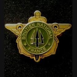 DIVERS : insigne du soutien national France de l'opération trident au Kosovo KFOR de fabrication locale