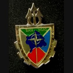 TRAIN : insigne du bataillon logistique (BATLOG) de la brigade multinationale Nord (BMNN) , KFOR, de fabrication locale G.4649