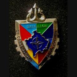 TRAIN : insigne du bataillon de commandement et de soutien opération Trident, Kosovo Force (KFOR) de fabrication Sheli