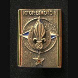 2° REI : insigne du 2° régiment étranger d'infanterie, Kosovo Force (KFOR), Bimoto 8, de fabrication Sheli