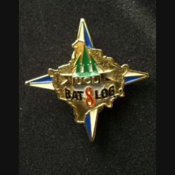 TRAIN : insigne de l'unité de commandement et de logistique (UCL) du bataillon de logistique (BAT LOG) mandat 8 de l'opération Trident de fabrication Sheli