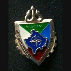 TRAIN : insigne du bataillon de commandement et de soutien opération Trident, Kosovo Force (KFOR) de fabrication Sheli non mentionné G.4949, 4 couleurs