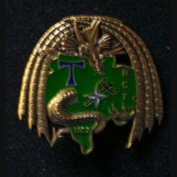 TRANS : insigne de la brigade de commandement des transmissions (BCT), 5° Mandat, SIC 2, de l'unité de commandement et de logistique (UCL) au Kosovo opération trident de fabrication SHELI