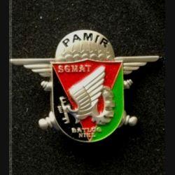 3° RMAT : insigne de la SGMAT du bataillon logistique (BATLOG) Niel, opération Pamir fabriqué par IMC numéroté
