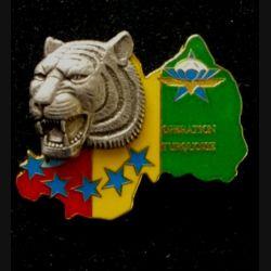 1° RCP : insigne du 1° régiment de chasseurs parachutistes, CRAP, opération turquoise de fabrication Ballard