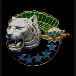 1° RCP : insigne du 1° régiment de chasseurs parachutistes, CRAP, de fabrication Balme