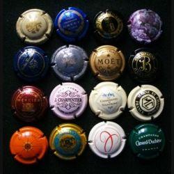 MUSELET : Lot de 16 muselets de bouteilles de champagne et de mousseux ou assimilés lot 15