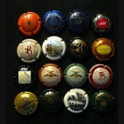 MUSELET : Lot de 16 muselets de bouteilles de champagne et de mousseux ou assimilés lot 16