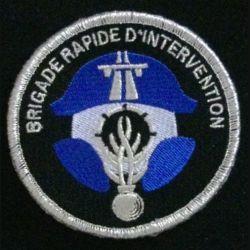 GENDARMERIE BRI : insigne tissé de l'escadron départemental de sécurité routière, unités brigade rapide d'intervention, de la gendarmerie nationale modèle agréé DGGN