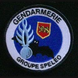 GENDARMERIE GROUPE SPELEO D'OLORON STE MARIE : insigne tissé du groupe spéléo d'Oloron Sainte Marie de la gendarmerie nationale modèle agréé DGGN
