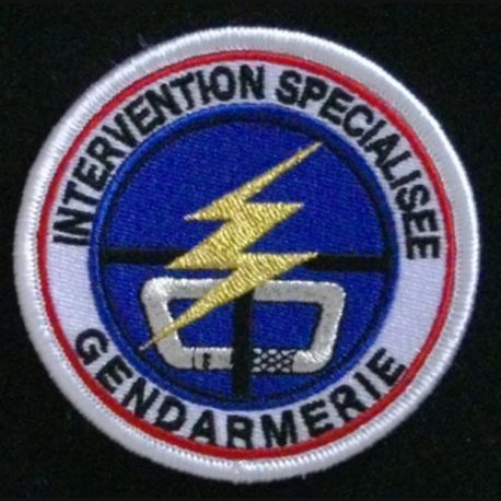 GENDARMERIE : insigne tissé du peloton d'intervention 2° génération modèle agréé DGGN