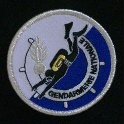 GENDARMERIE PLONGEURS DEMINEURS : insigne tissé des plongeurs de la gendarmerie nationale modèle agréé DGGN