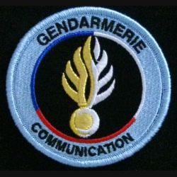 GENDARMERIE COMMUNICATION : insigne tissé de la cellule communication de la gendarmerie nationale modèle agréé DGGN