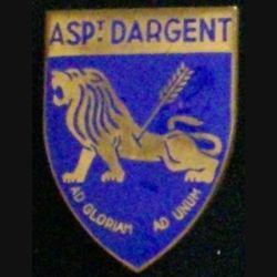 PROMOTION INCONNUE : aspirant Dargent en émail dos lisse