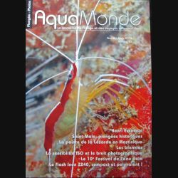 AQUAMONDE N° 55  mars 2014 : superbe magazine d'Aquamonde n° 55 sur l'image et les voyages subaquatiques