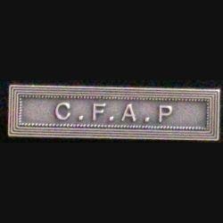 """Barrette de décoration """"C. F. A. P"""" commandement de la force aérienne de projection modèle ordonnance en métal argenté"""