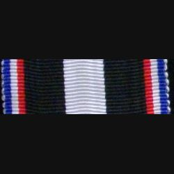 FRANCE : Ruban de la médaille de l'Aisne du Chemin des Dames 1914 - 1918 de longueur 13 cm et de largeur 3,6 cm