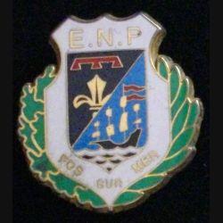 POLICE FOS SUR MER : insigne de l'école nationale de police de Fos sur Mer de fabrication Boussemart