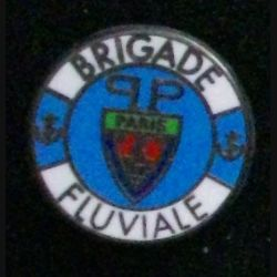 POLICE : Pin's de la brigade fluviale de Paris couleur bleue