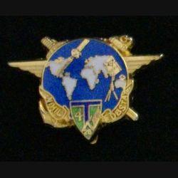 28° RT : insigne de la 4° compagnie du 28° régiment de transmissions de fabrication JMM Insignes modèle translucide doré