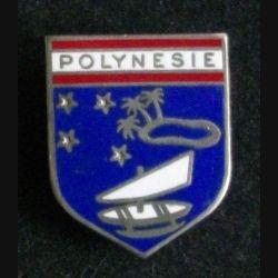 GENDARMERIE : insigne de l'écu de la gendarmerie de Polynésie de fabrication Arthus Bertrand G. 2328