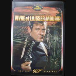 """DVD intitulé """" 007 vivre et laisser mourir """" film de James Bond avec Roger Moore"""