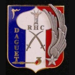 3° RHC : insigne du 3° régiment d'hélicoptères de combat opération daguet de fabrication Fraisse