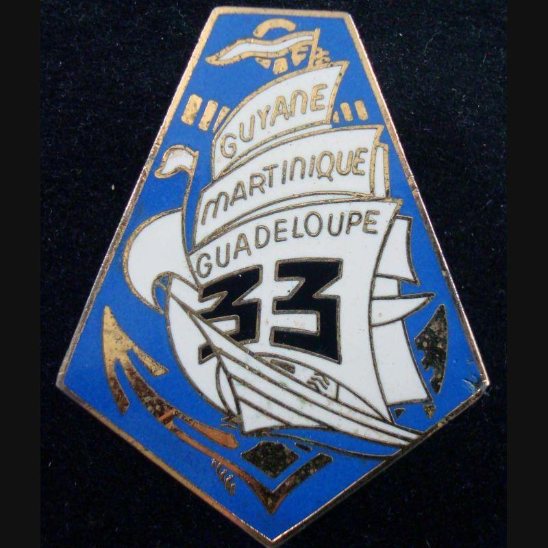 33° Régiment D'infanterie De Marine En émail
