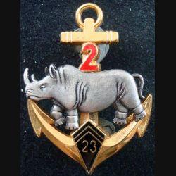 2° escadron du 23° régiment d'infanterie de marine rhinocéros argenté Fraisse Paris