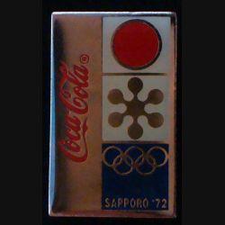 Pin's Coca Cola : pin's publicitaire de Coca Cola des jeux d'hiver olympiques de Saproro 1972