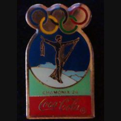 Pin's Coca Cola des jeux olympiques de Chamonix en 1924 de fabrication Premier Taïwan