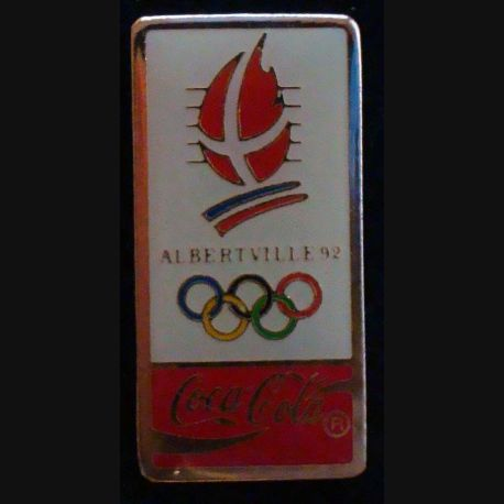 Pin's Coca Cola des jeux olympiques d'Albertville en 1992 de fabrication Premier Taïwan