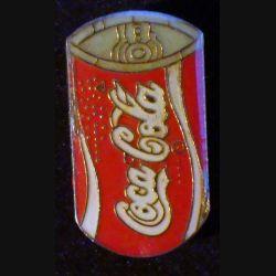 Pin's Coca Cola : pin's publicitaire de Coca Cola boite métallique