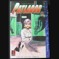 MANGA : livre de Patlabor mobile police tome 9 sens de lecture japonais