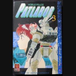 MANGA : livre de Patlabor mobile police tome 3 sens de lecture japonais