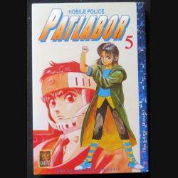 MANGA : livre de Patlabor mobile police tome 5 sens de lecture japonais