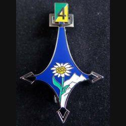 BCA : insigne métallique de la 4° compagnie du bataillon de chasseurs alpins de fabrication Boussemart by Promodis 2014