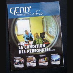 Gend Info n° 331 de novembre 2010 sur la condition des personnels