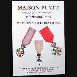 Catalogue à prix marqués de décembre 2010 d'Ordres et de décorations du monde entier