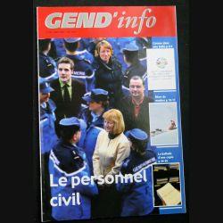 Gend Info : revue de la gendarmerie n° 295 de Mars 2007 traite du personnel civil