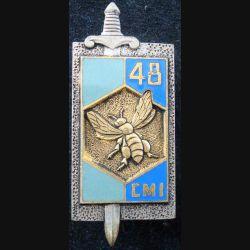 48° compagnie mixte de l'intendance de fabrication Drago G. 1381 en émail doré