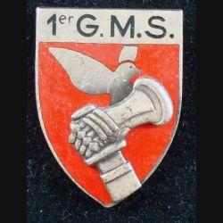 1° GMS de fabrication Drago A. 999 en émail et épingle coupée de part et d'autre du boléro